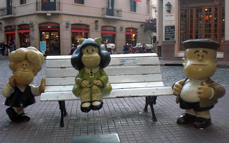 tipic de Buenos Aires mafalda i amics
