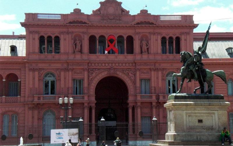 Plaza de Mayo monument de Belgrano i Casa Rosada