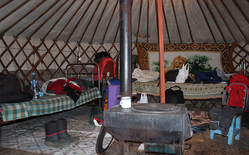 interior d'un gher mongol