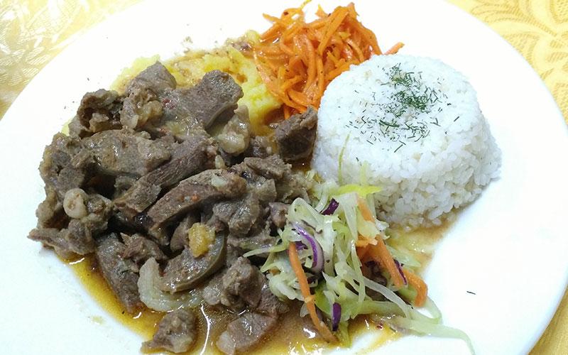 plat amb carn mongolia