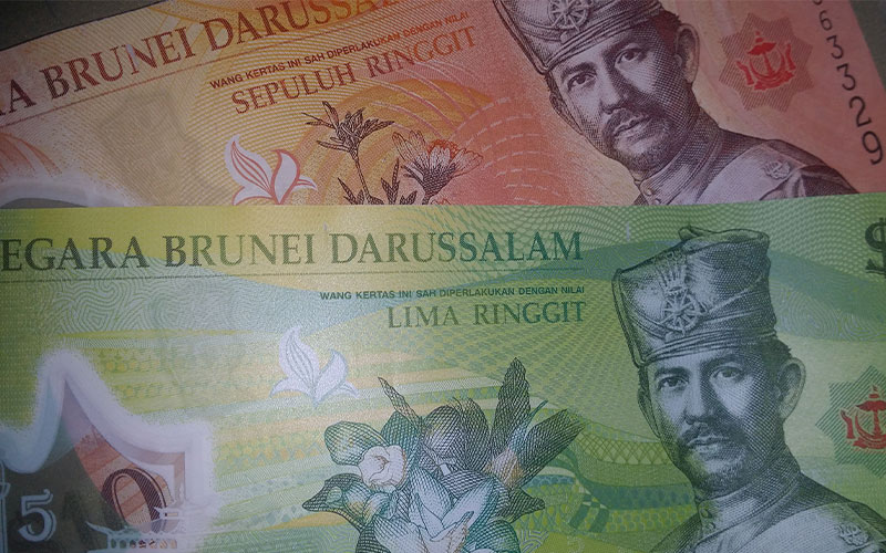 Moneda, divises Brunei