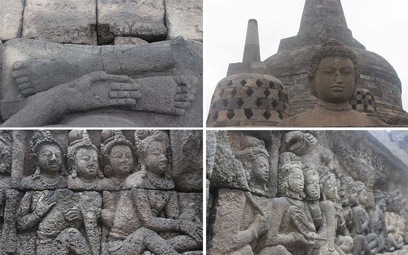 detalls del Temple de Borobudur