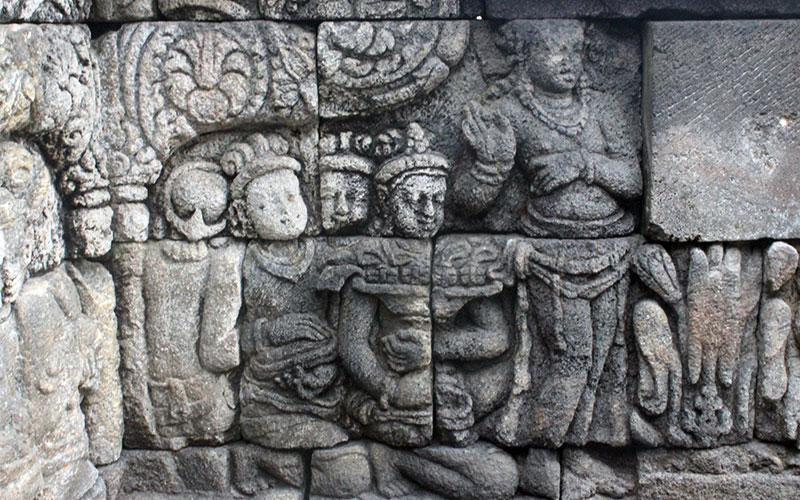temple borobudur indonesia detall entrada