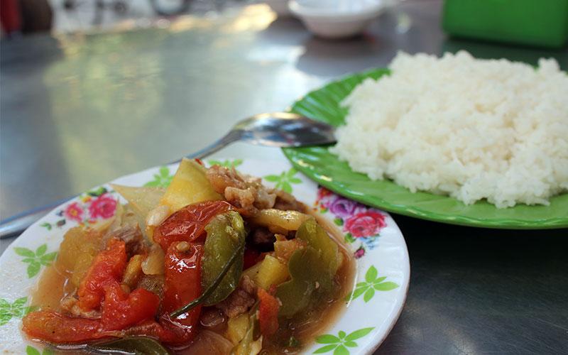menjar de mercat a Cambodja