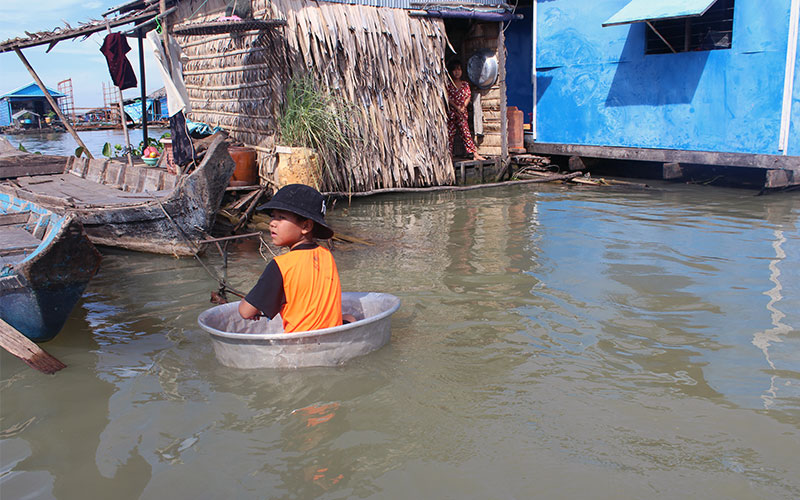 vida a Kampong Chhnang, Cambodja