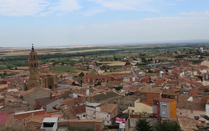 vistes del poble d'almenar