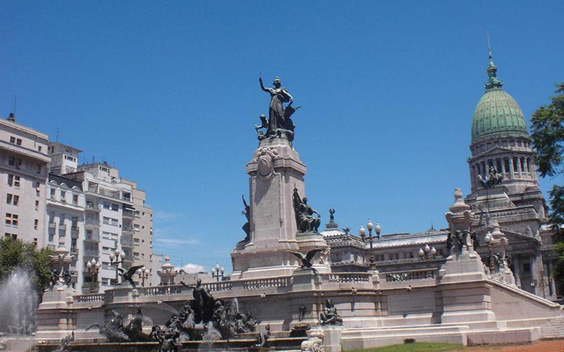 Plaza del Congreso Buenos Aires insòlita